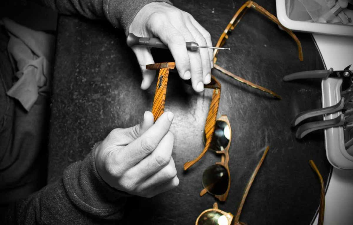 marca gafas de sol madera handmade hechas en España